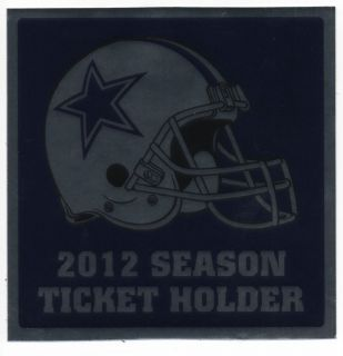 Dallas Cowboys 2012 Season Ticket Holder Bumper Sticker Decal