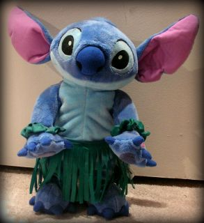 12 Disney Lilo Stitch Dancing Singing Hula Plush Stuffed Animal