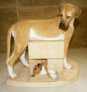 CHARMING LARGE GREAT DANE DOG PUPPY FIGURINE BY SHERRATT SIMPSON 55126