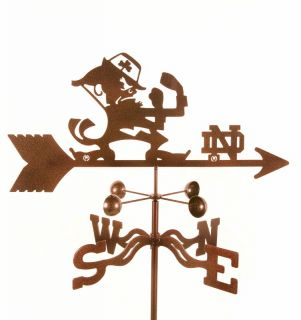 Notre Dame Fighting Irish ND Weathervane Garden Decor