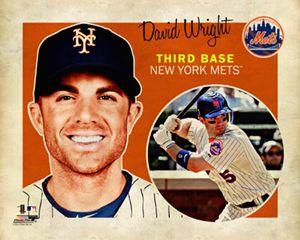 David Wright Retro Supercard Vintage Style New York Mets Poster Print