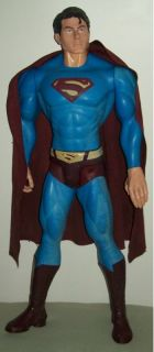 Large 30 TM DC Superman Comic Book Hero Action Figure