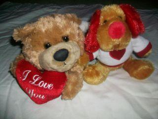 Dan Dee and JLI The Petting ZOO lots of 2 stuffed plush animals 1994