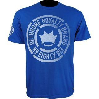 Dethrone Royalty Faded Brand Tshirt Royal Blue UFC MMA