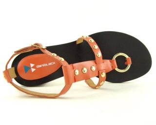 165 Daniblack Milly Orange Womens Shoes Sandals 7 5