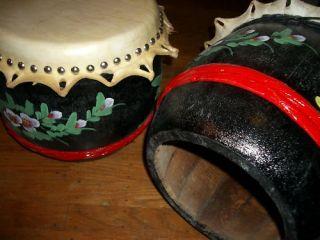 Martial Art Chinese Lion Dance Dragon Boat Black Drum for Children