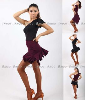 Salsa Tango ChaCha Ballroom Dance Dress Top Skirt Dance Costume