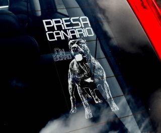 Dogo Canario   Dog Car Window Sticker   Perro de Presa Canario Canary
