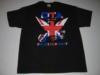 DTA NRA Worldwide UK Black Rogue Status Shirt Tee SS Gun Show Famous