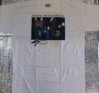 Michael Jackson Whos Dangerous Tour T Shirt New XXL
