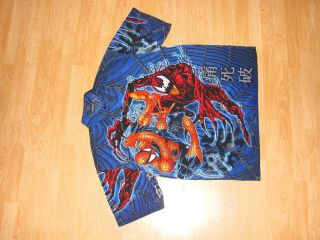 Spider Man Mens x Large XL Button Front Shirt Awesome Legit