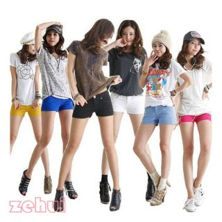 Korean Women Casual Candy Colours Hot Shorts Short Jeans Low Waisted 7