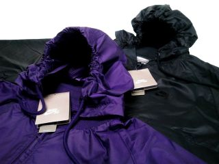 Nike SB C B Packable Windbreaker Jacket Black Purple Limited Rain Coat