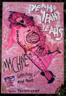 Yeah Yeah Yeahs Promotional Poster Machine Collectible