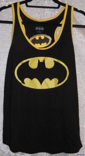 DC Comics Batman Logo on Black Tank Top