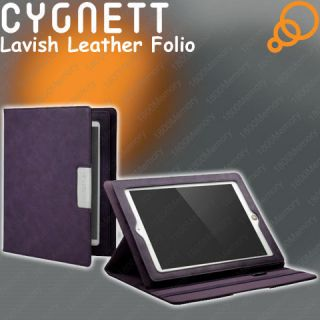 Genuine Cygnett Lavish Leather Folio Case Multiview Stand fo New iPad