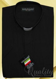 Daniel Ellissa Clergy Shirt Black Tab Collar 16 5 Short Sleeve Cotton