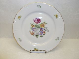 25 Vintage Bohemian China Czechoslovakia Bouquet Pattern with Gold