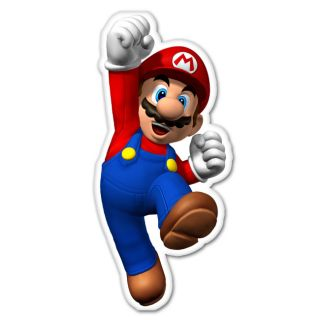 Super Mario Luigi Nintendo Car Decal Sticker 3 x 6