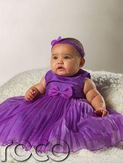 Robe Communion Fille BEBE Couleur Violet Lilas Fille Fleur Demoiselle