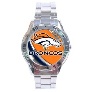 New Denver Broncos Sexy NFL Analog Watch Stainless Steel