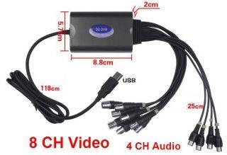 Video & Audio Real time USB D1 CCTV DVR Capture Card PTZ IE IP Camera