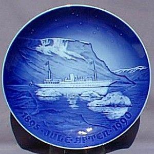 Bing Grondahl 1895 1990 Christmas Jubilee Plate Yacht