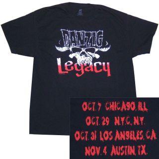 DANZIG LEGACY TOUR FALL 2011 SHOWS BLACK T SHIRT XL X LARGE NEW