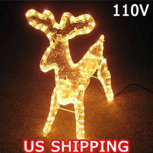 Reindeer Lights Outdoor Festival Home Decoration Christmas Child Gift