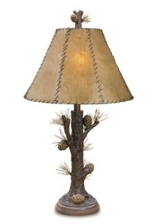Pinecone Table Lamp Tree Rustic Lodge Cabin Pine Cone New 31