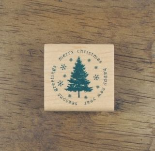 Decorative Stamps Rubber Stamp Evergreen