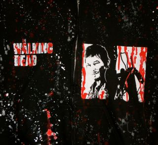 DIY The Walking Dead Hoodie Zombies Daryl Dixon XL 2X