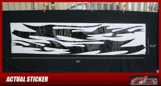 STICKER DECAL BLACK FLAME FIRE CIVIC FIT MATRIX CUBE TC XA FOCUS