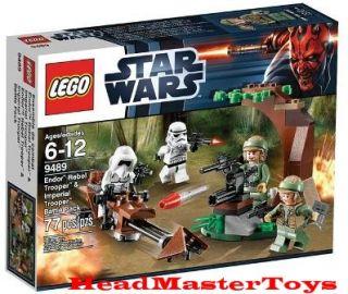 STAR WARS LEGO 9489 Endor Rebel Trooper & Imperial Trooper Battle Pack