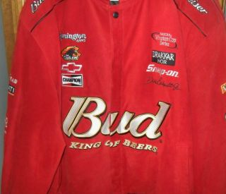 NASCAR Red Leather Jacket Dale Earnhardt Jr Mens XL