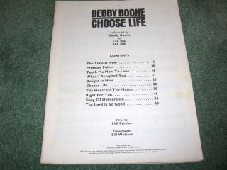 debby boone choose life vocal choir sheet music book gospel religion
