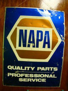 Napa Auto Double Sided Tin Sign Vintage Metal Litho