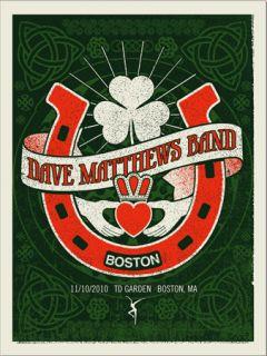 Dave Matthews Band Poster 10 TD Garden Boston N2 #/550