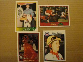 Horse Racing Jockey Cards Lot 4 David Brown