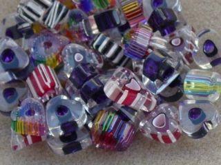 oz David Christensen Beads Cane Glass HEART Shape Mix Furnace