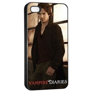 Damon Salvatore Ian Somerhalder Black iPhone 4 4S Hard Case Skin Cover
