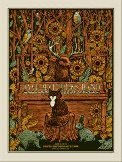 Dave Matthews Band Poster Spac 6 9 12 Saratoga Springs
