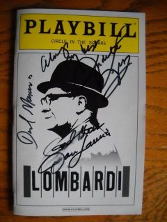 Signed New Playbill Lombardi Dan Lauria Judith Light David Maraniss