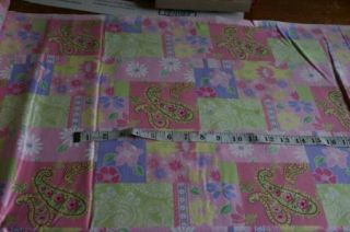 Fuzzy flannel pink pastel paisley quilt print fabric material