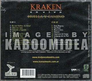CDs Kraken En Vivo Huella Y Camino 2 CD Set Heavy Metal Rock