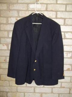 Classic Dark Blue DAVID TAYLOR 2 button Jacket Sport Coat 46R