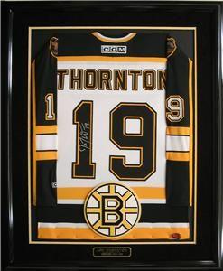 Joe Thornton Autographed Boston Bruins Framed Jersey COA
