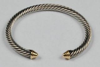 david yurman dome 5mm cable cuff bracelet 14k gold sterling silver 925