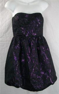 Purple Black Delia s Strapless Bubble Hem Dress Lining 5 Party Prom