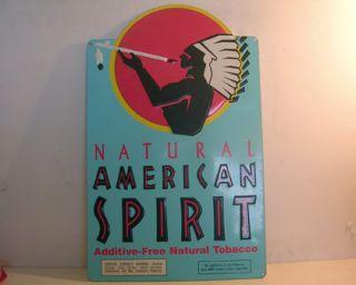 Vintage 18 Natural American Spirit Tobacco Tin Sign